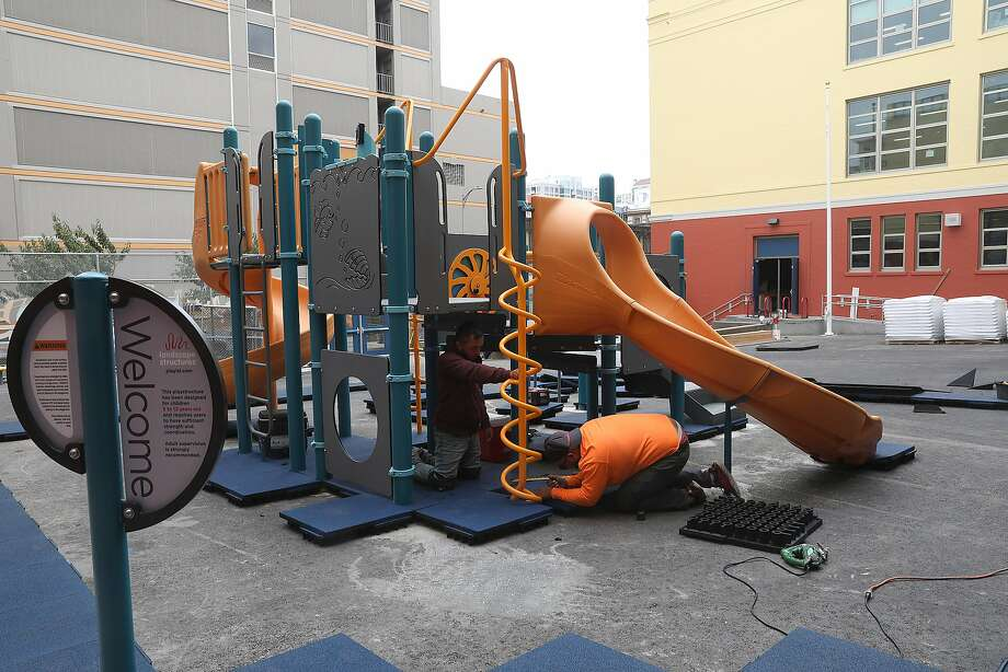 San Francisco's Redding Elementary school has moved forward with constructing a playground. The school is waiting for state bond money. Photo: Liz Hafalia / The Chronicle