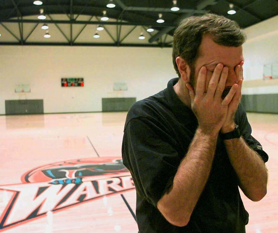 Warriors head coach P.J. Carlesimo is weary after addressing reporters on Dec. 4, 1997, days after he'd been choked by forward Latrell Sprewell. The Warriors forward was later suspended from league play for one season over the assault. Photo: Ben Margot / Associated Press 1997