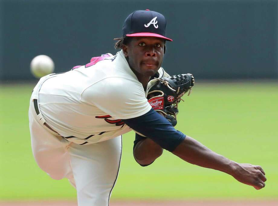 Atlanta Braves Touki Toussaint, making his MLB debut, delivers a pitch against the Miami Marlins during the first inning of a baseball game on Monday, Aug. 13, 2018, in Atlanta. (Curtis Compton/Atlanta Journal-Constitution via AP) Photo: Curtis Compton / Atlanta Journal-Constitution