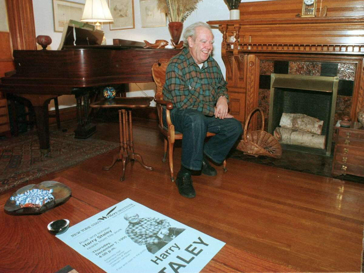 Harry Staley in the living room of his State Street home in Albany, N.Y., on Nov. 15, 1995. (Times Union Archive)