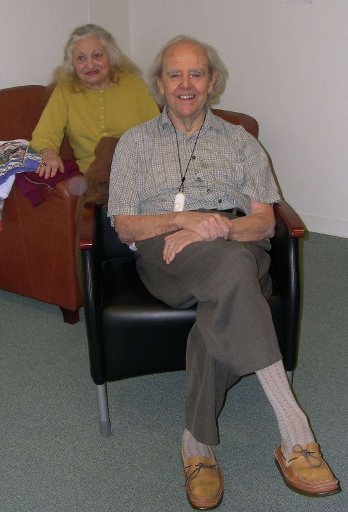 Helen and Harry Staley at Harry?'s poetry reading at the Writers Institute in 2012. Harry Staley died from complications of pneumonia on Aug. 6, 2018, at age 94. (Photo provided)