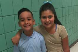 Alberto Rodriguez - 1st grade and Belen Palomo - 3rd grade