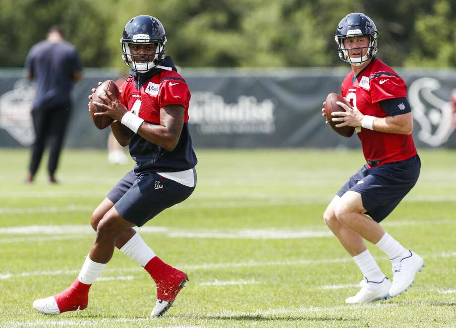 PHOTOS: John McClain's 2018 Week 6 predictions Houston Texans quarterbacks Deshaun Watson (4) and Brandon Weeden (3) drop back to pass during training camp at The Greenbrier Sports Performance Center on Thursday, July 26, 2018, in White Sulphur Springs, W.Va. >>>See the General's picks for the sixth week of NFL action ... Photo: Brett Coomer/Houston Chronicle