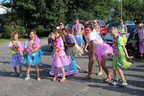 People were lined along Prospect Street in Caseville Monday evening for the annual Kiddie Parade, where kids strutted their stuff as part of this year's Cheeseburger in Caseville Festival.