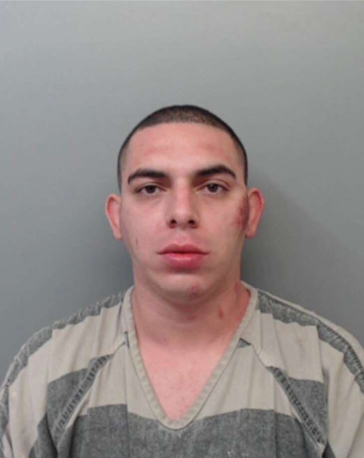 Jose Garcia, 33, was charged with assault on a public servant, resisting arrest, evading arrest with a vehicle and obstruction, retaliation. Photo: Webb County Sheriff's Office