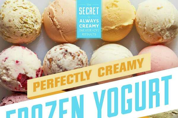"""The cover of the book """"Perfectly Creamy Frozen Yogurt: 56 Amazing Flavors Plus Recipes for Pies, Cakes &r Frozen Desserts"""" by Nicole Weston."""