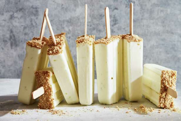 "Key Lime Pie Pops, from the book ""Perfectly Creamy Frozen Yogurt: 56 Amazing Flavors Plus Recipes for Pies, Cakes & Other Frozen Desserts"" by Nicole Weston."