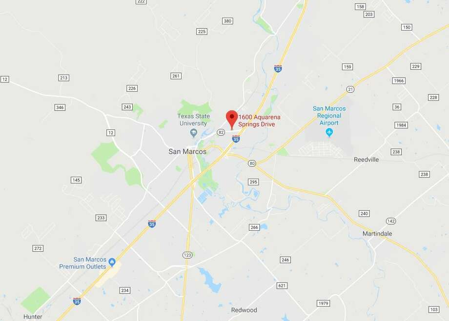 A passerby discovered the body of Matthew Jacob Rodriguez Jr. at about 2:24 a.m. in the parking lot of Park North Condos in the 1600 block of Aquarena Springs Drive, according to a statement from George Hatt, a spokesman for the City of San Marcos. Photo: Google Maps