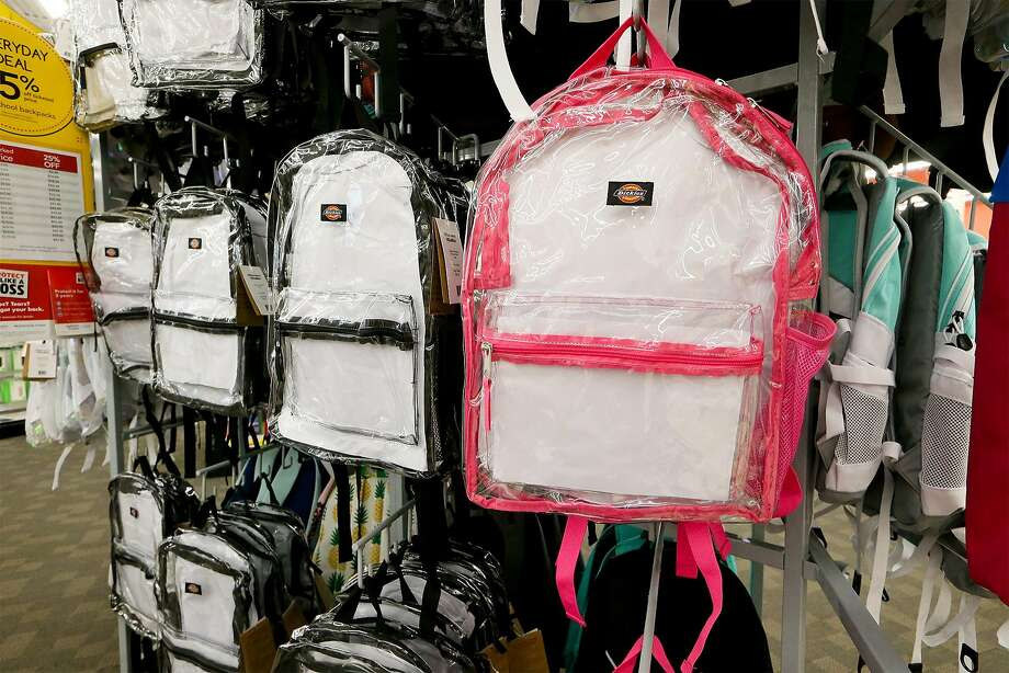 When the 2020-21 school year begins in August, all Ector County ISD secondary schools will allow only clear or mesh backpacks on campus. Photo: Marvin Pfeiffer, San Antonio Express-News
