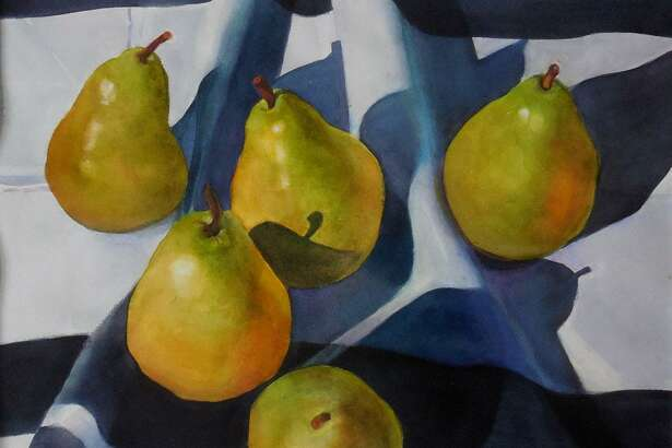 """""""Odd Perspective,"""" Essex Art Association's last show of the season, opens with a reception Aug. 24. Above, Pears From Above by Michele Sinkez."""