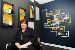 Synchrony CEO and President Margaret Keane poses for a photo at Synchrony headquarters at 777 Long Ridge Road in Stamford, Conn., on Monday, Nov. 27, 2017.