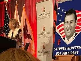 Charlotte Shultz proposes Stephen Revetria for president