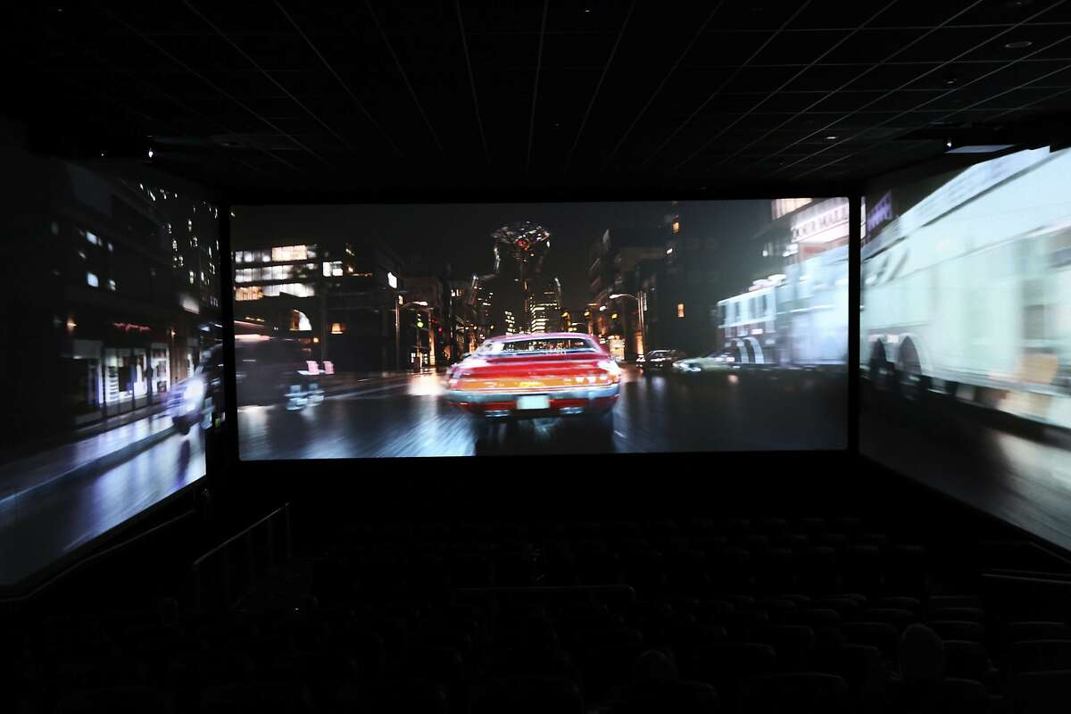 ScreenX, the latest attempt to drag film lovers off the sofa and away from Netflix. Instead of one screen, there are three, creating a 270-degree view meant to add to the immersive experience you can't get from the home TV.