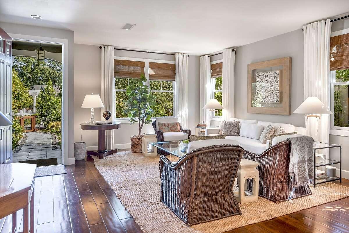 Designer Leslie Miretti remodeled the four-bedroom farmhouse in Yountville.