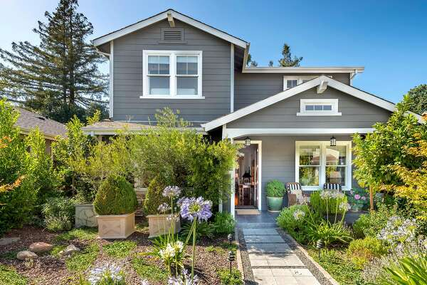 1980 Adams St. in Yountville is a four-bedroom farmhouse with a detached, one-bedroom guest house. �