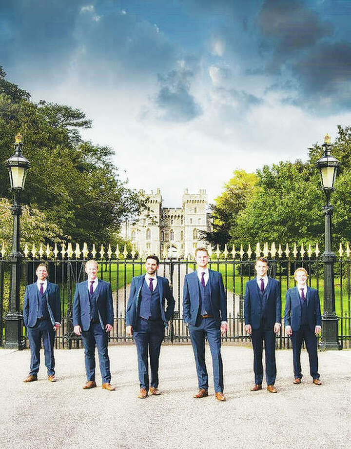 The Queen's Six, standing in front of Windsor Castle, often perform before the Royal Family, including at the recent wedding of Prince Harry and Meghan Markle. The group, which is part of the royal Chapel Choir, will perform at 8 p.m. Saturday, Oct. 20, at the Cathedral Basilica of Saint Louis, as part of the St. Louis Cathedral Concerts. Doors open at 7 p.m. Photo:     For The Telegraph