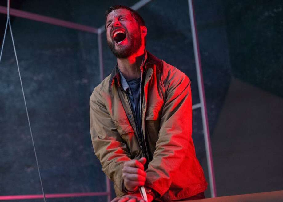 "Logan Marshall-Green's personal assistant is inside his head — and can take over his body — in the in the sci-fi/horror film ""Upgrade."" Photo: Blumhouse"
