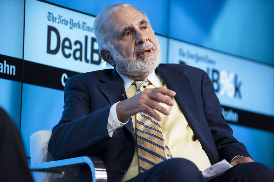 FILE-- Carl Icahn, the billionaire activist investor, during a talk at the Dealbook Conference in New York, Nov. 3, 2015. Icahn is calling on the leadership of Occidental Petroleum Corp. to reveal whether they were approached by any potential buyers before agreeing to acquire Anadarko Petroleum Inc. for $37 billion. Photo: Karsten Moran, NYT