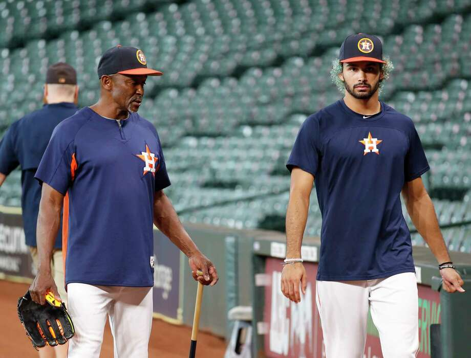 PHOTOS: A look at Dante Pettis during Astros batting practice on Tuesday