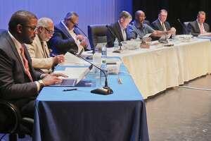 2018 MISD school board members during a meeting 08/14/18 at Bowie Fine Arts auditorium. Tim Fischer/Reporter-Telegram