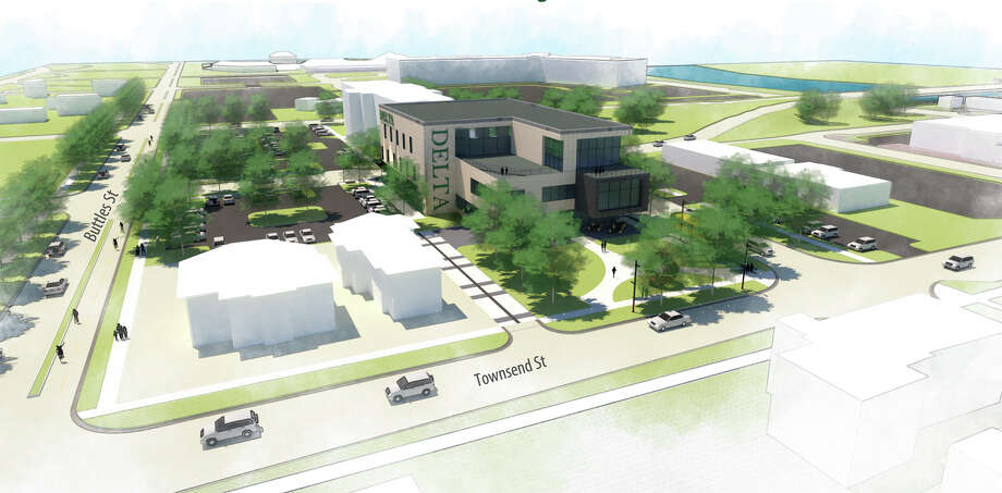 On Aug. 14, the Delta College Board of Trustees approved the site for its new Midland Center for the block surrounded by Ellsworth, Townsend, Buttles and Cronkright streets. Photo: Delta College