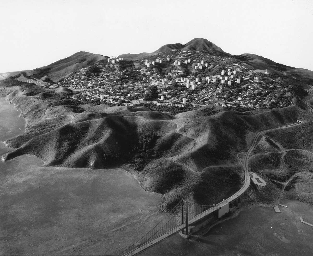 Photo drawing of Marincello, the planned housing development North of Fort Baker Handout photo provided by Aero Photographers Inc. June 24, 1965