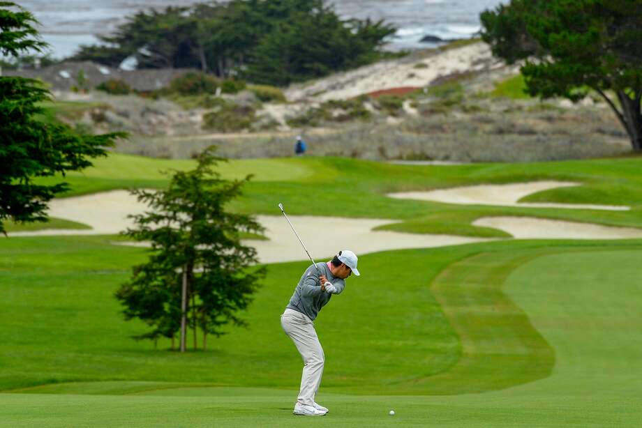 Isaiah Salinda advanced to match play at the U.S. Amateur despite his 76 at Spyglass Hill on Tuesday. Photo: Courtesy USGA / USGA Museum
