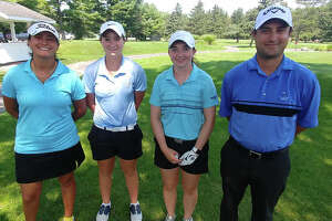 The winning pro and three female amateur team in the Northeastern New York PGA includes, from left: Isabella Diaz, Ballston Spa; Aly Hutchinson, Delmar; Lauran Rentz, East Greenbush and Bob Cain, PGA Teaching Professional at Saratoga National Golf Club.