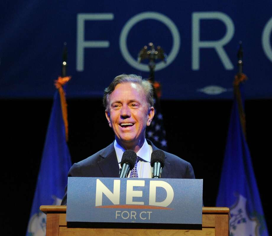 Ned Lamont, the endorsed Democratic candidate for governor of Connecticut during his primary election night victory reception at the College Street Music Hall, New Haven Conn., Tuesday, Aug. 14, 2018. Photo: Bob Luckey Jr., Hearst Connecticut Media