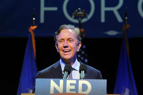 Ned Lamont, the endorsed Democratic candidate for governor of Connecticut during his primary election night victory reception at the College Street Music Hall, New Haven Conn., Tuesday, Aug. 14, 2018.