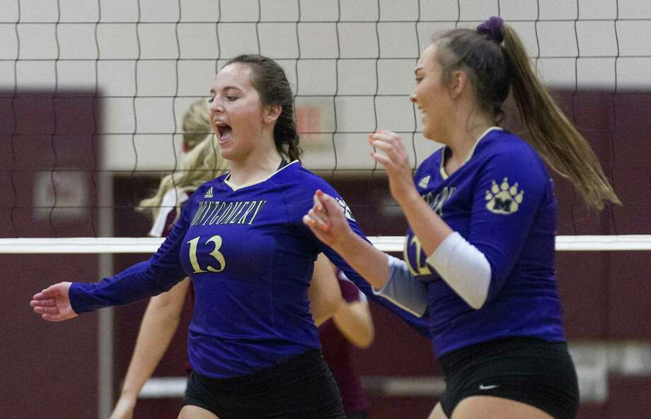 In this file photo, Montgomery's Madison Wofford (13) reacts after scoring a point during the fifth set of a non-district high school volleyball game at Magnolia High School on Tuesday, Aug. 7, 2018, in Magnolia. Photo: Jason Fochtman, Staff Photographer / Staff Photographer / © 2018 Houston Chronicle