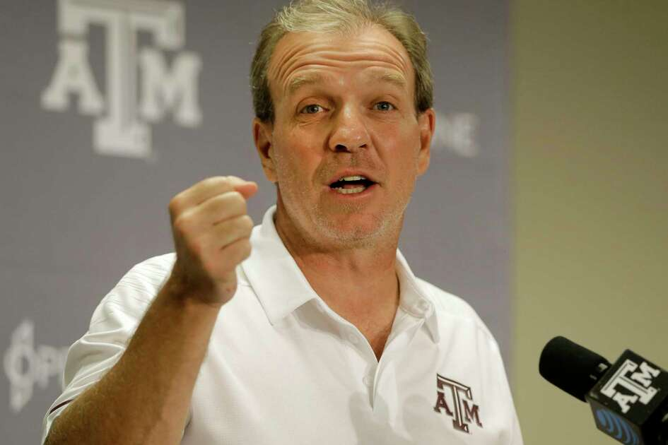 Jimbo Fisher, Texas A&M football coach, speaks to the media at Kyle Field Sunday, Aug. 12, 2018, in College Station.