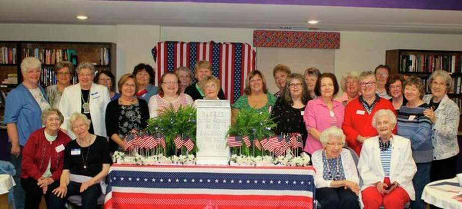 Daughters of the Union at the memorial table. (Photo provided)