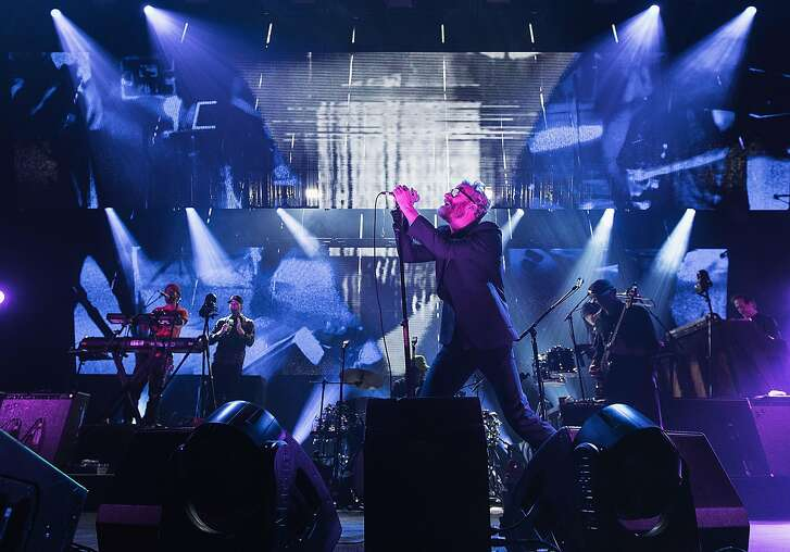 Matt Berninger of The National performs on stage at Paramount Theatre on November 29, 2017 in Seattle, Washington.