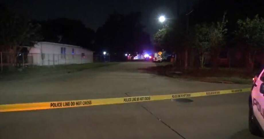 An 18-year-old man was shot late Tuesday while attempting to rob a pair of cable repairmen in north Houston. Photo: Metro Video