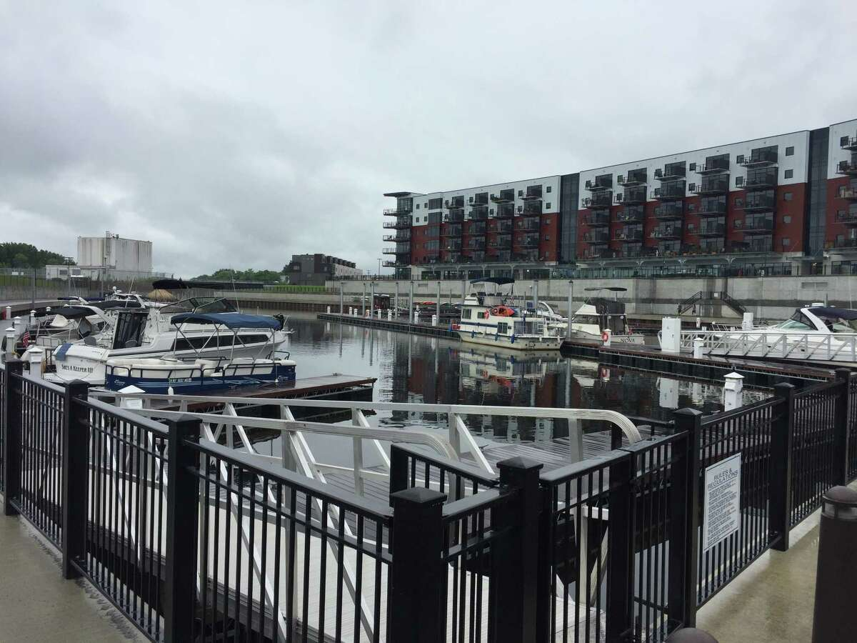 Mohawk Harbor in Schenectady on Saturday, Aug. 11, 2018. Organizers in 2021 hope they are getting closer to putting a regional aquatic center at Mohawk Harbor.