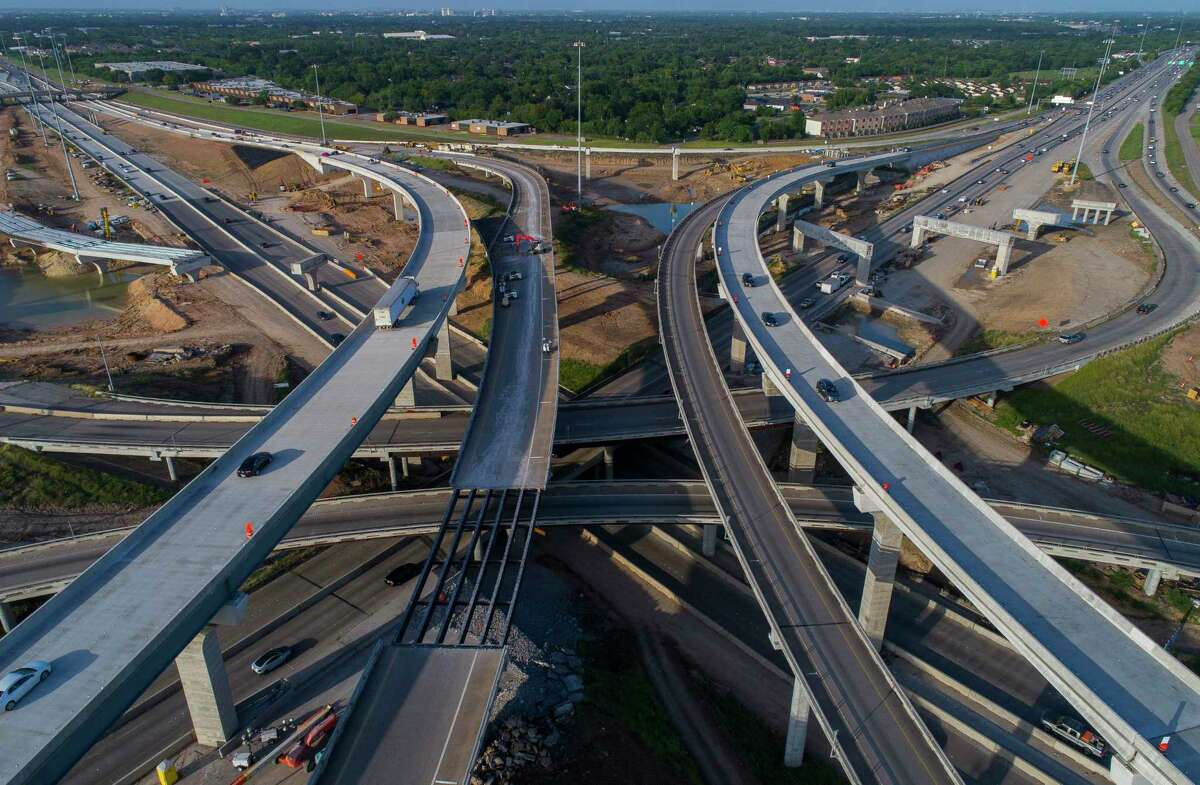 The SH 288/South Loop 610 interchange, seen here in 2018, has been under construction for years.