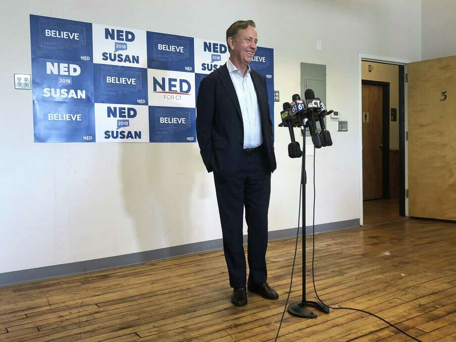 Ned Lamont at a press conference in New Haven Wednesday August 15 following his primary win Tuesday. Photo: Kaitlyn Krasselt / Hearst Connecticut Media