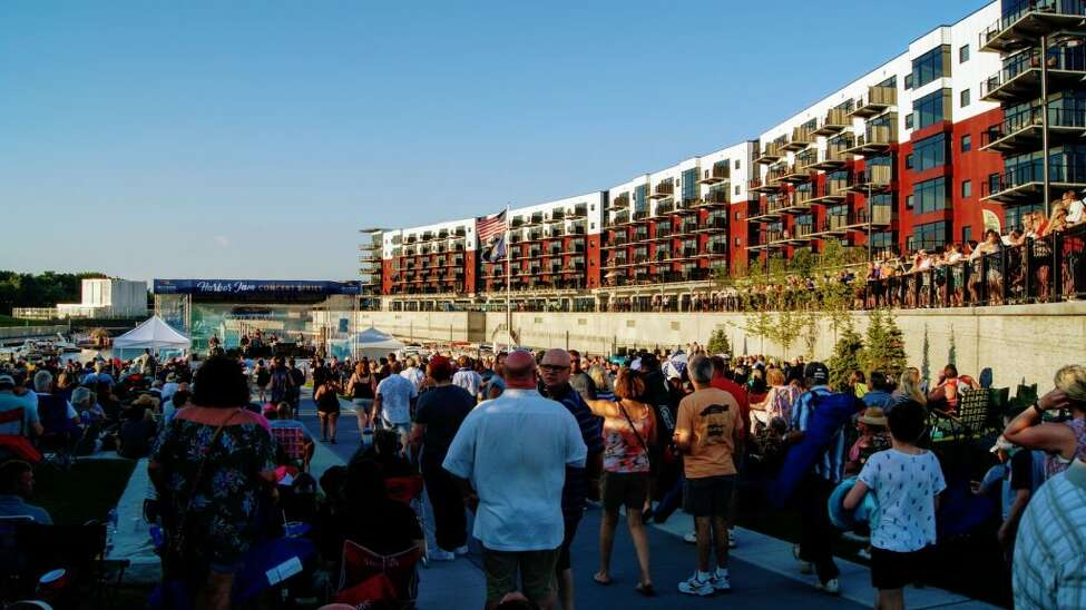 Rivers Casino & Resort Schenectady's Harbor Jam outdoor summer concert series 2018 at the Mohawk Harbor Amphitheater in Schenectady. (Ali Stewart)