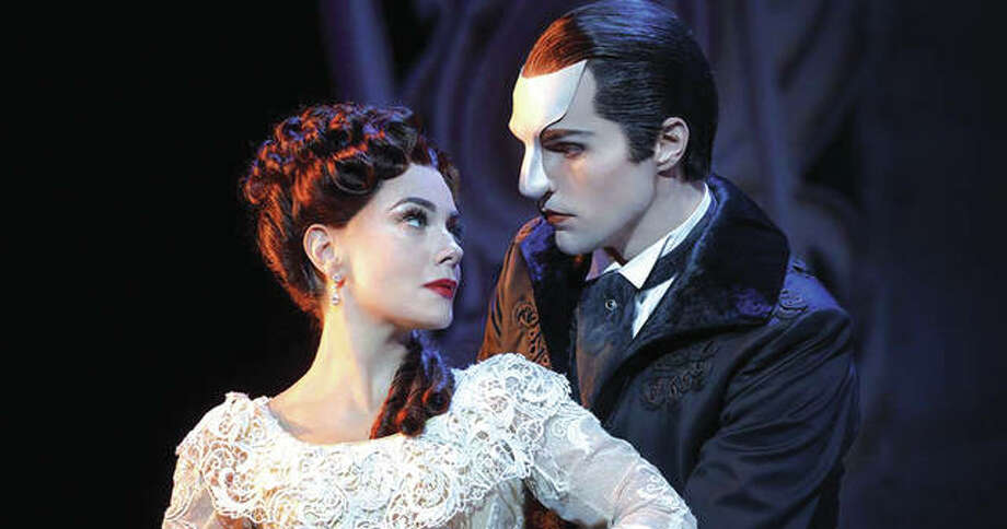 Bronson Norris Murphy as The Phantom with Meghan Picerno as Christine Daaé.