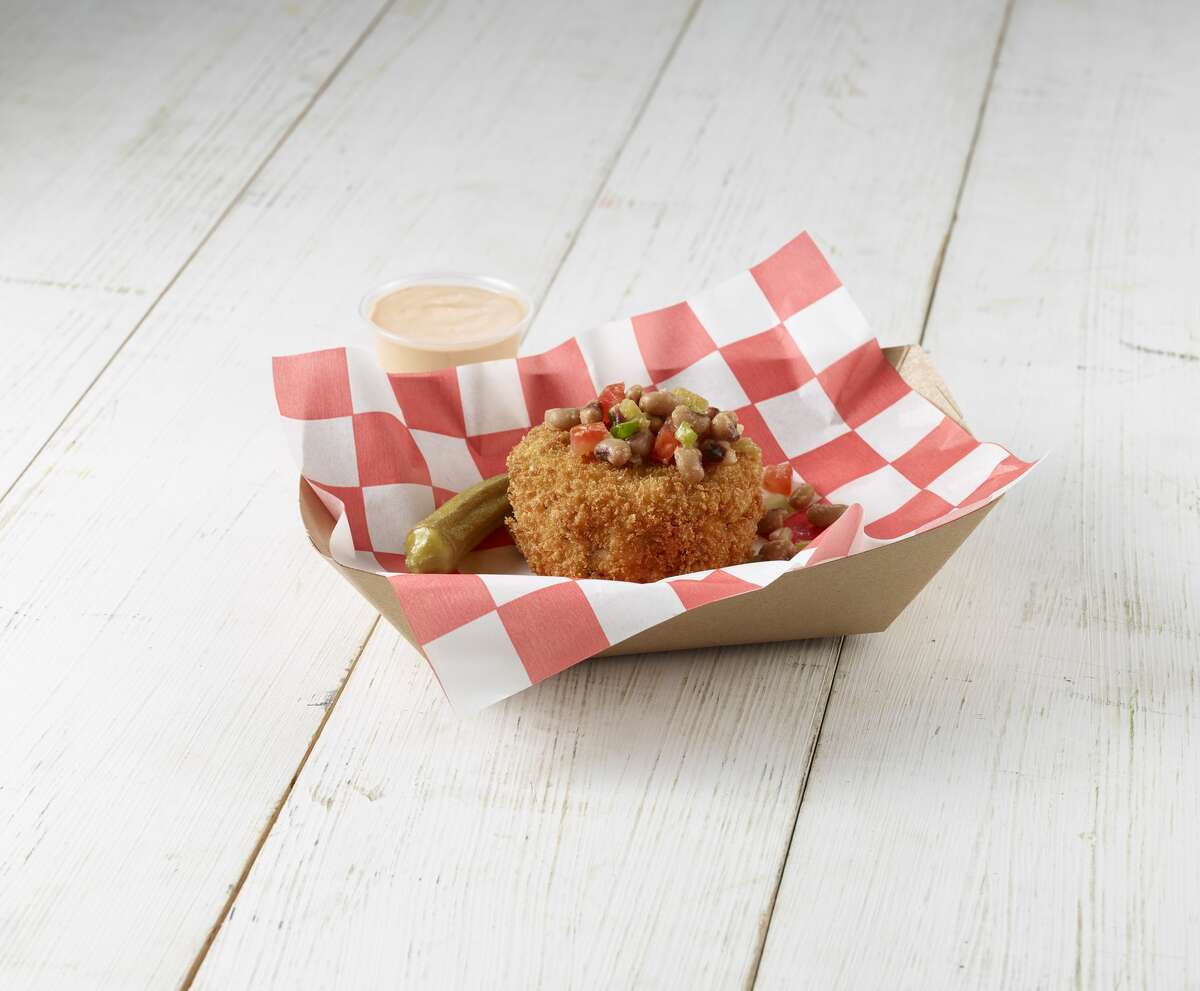 Fernie's Hoppin' John Cake with Jackpot Sauce by Winter Family Concessions (SAVORY) This iconic New Year's Eve southern