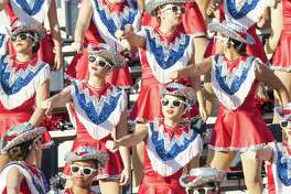 Atascocita dance team, dances in the stands during a high school football game at Klein Memorial Stadium on Saturday, September 10, 2016, in Klein. ( Joe Buvid / For the Chronicle )