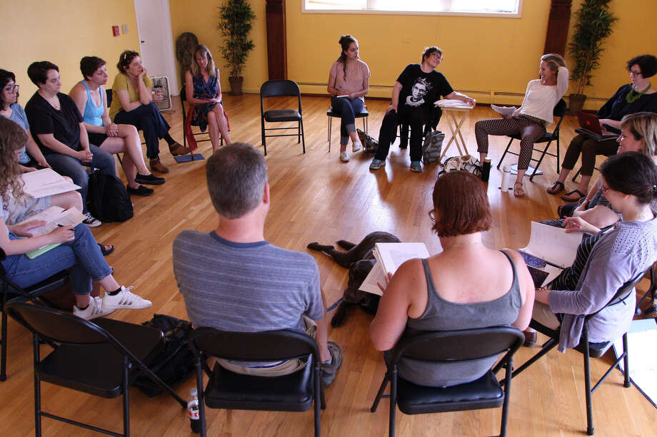 "A rehearsal for ""Heisenberg"" which will be performed at the Tina Parker Playhouse. (Provided, photo by Eloy Parcia)"