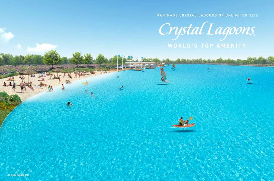 PHOTOS: This is a swimming pool you need to check out.Olympian Michael Phelps will attend the grand opening of Crystal Lagoon Aug. 23 in the Balmoral community in Humble. >>>>Swipe through and see mockups of the Crystal Lagoon... Photo: Crystal Lagoon