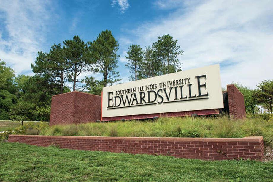 An entrance sign at Southern Illinois University Edwardsville. Photo:       SIUE Photo