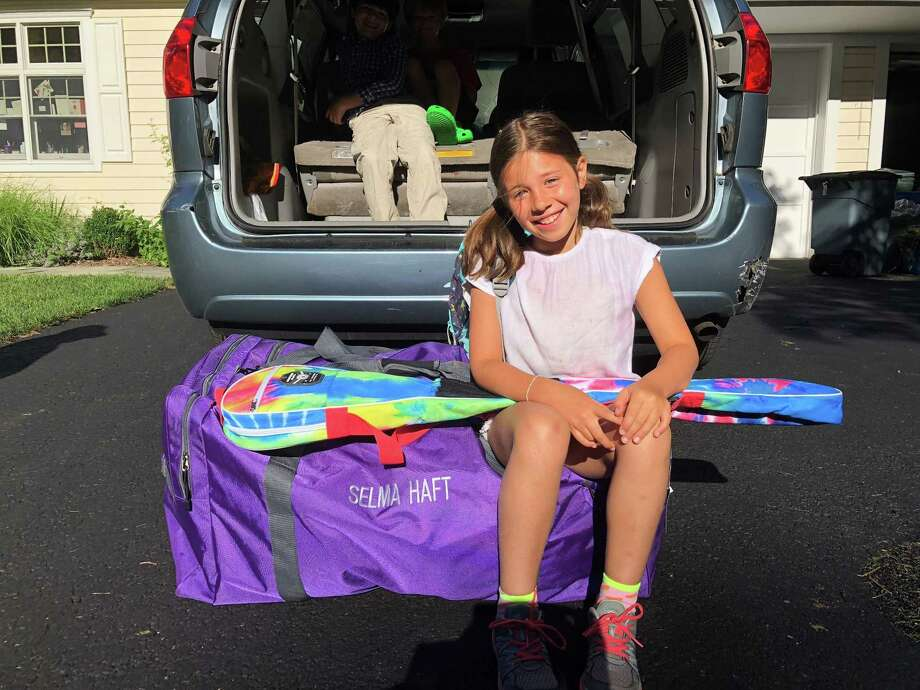 Everything but the kitchen sink: Selma is packed — actually overpacked — for her first time at sleepaway camp in Maine. Photo: Claire Tisne Haft / Contributed Photo
