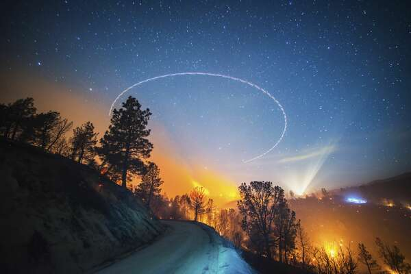 """The Shirley Fire burns near Lake Isabella, CA in June of 2014. Stuart Palley's book of nighttime California wildfires, """"Terra Flamma,"""" will be released in September. DO NOT USE"""