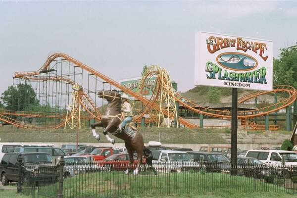 Queensbury has flourished while other towns have died following construction of the Northway. The Great Escape Fun Park in 1996.