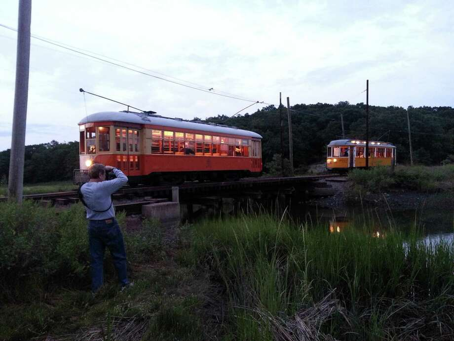 The Shore Line Trolley Museum hosts its annual Photographer's Night Aug. 25. Photo: Shore Line Trolley Museum / Contributed Photo / Connecticut Post Contributed