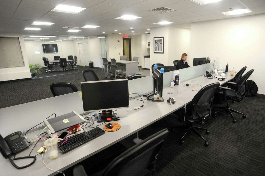 MediaCrossing's West Broad Street office in downtown Stamford, Conn. on Tuesday, July 25, 2017. Photo: Michael Cummo / Hearst Connecticut Media / Stamford Advocate